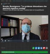 Scuola, Bonsignore: Le evidenze dimostrano che apertura significa contagi Presidente Ordine dei Medici della Liguria: Lockdown totale non trova giustificazioni